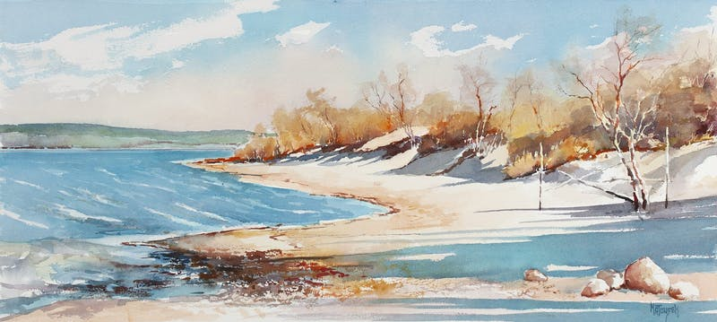 Elk Island From Victoria Beach Image 1