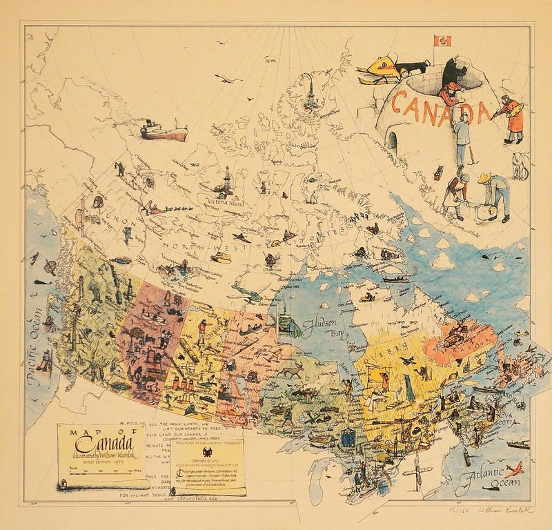 Map of Canada 86/554