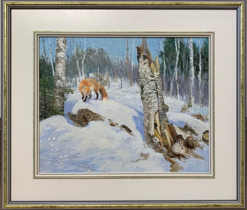 Vagrant Breeze, Red Fox and Snowshoe Hare Image 1