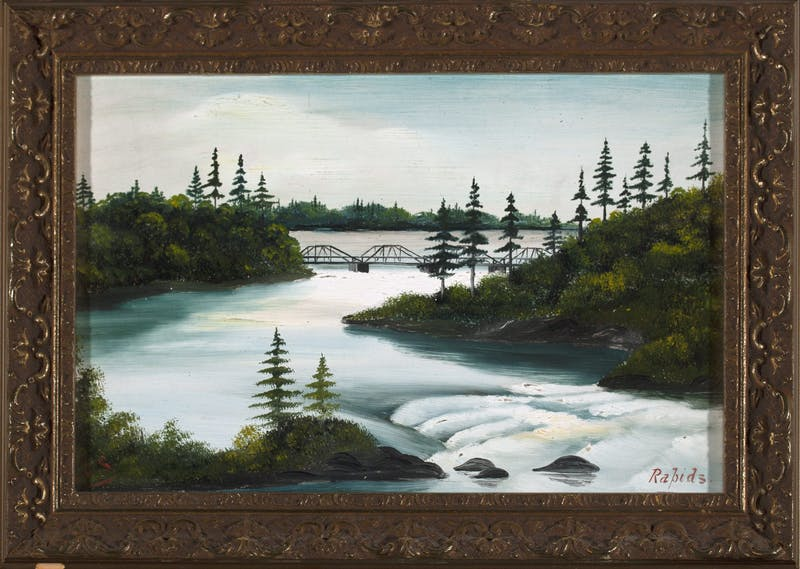 Rapids by Lionel Stephenson, circa 1872 Oil on Board - (6x9 in)