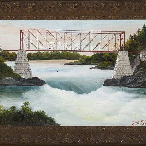 2nd Falls by Lionel Stephenson, circa 1872 Oil on Board - (6x9 in)