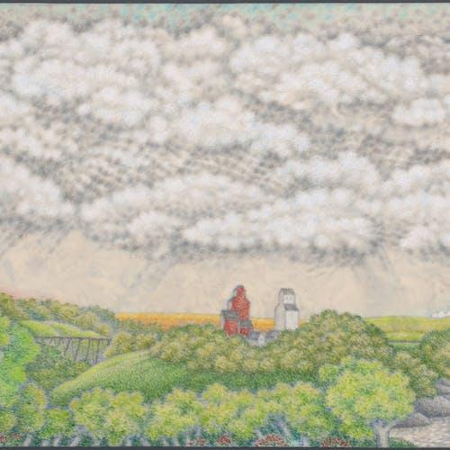 Whistlestop by Don Proch, 2020 Colored Pencil on Fiberglass Board - (11.25x14.25 in)