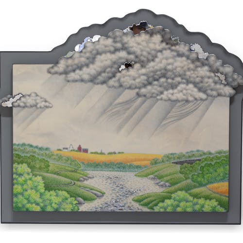 East of Assessippi by Don Proch, 2020 Colored Pencil on Fiberglass Board - (20x25 in)