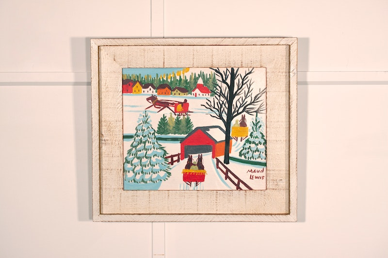 Sleighs and Covered Bridge Image 2