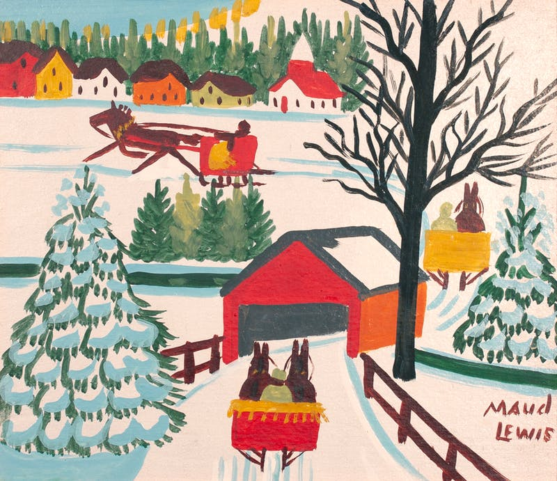Sleighs and Covered Bridge Image 3