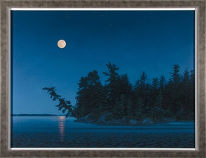 Moonlight Over Lake of the Woods