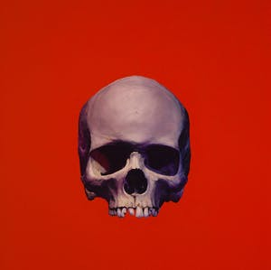 Rose Skull (On Competition Red)