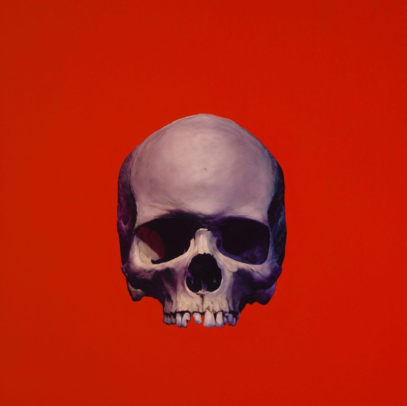 Rose Skull (On Competition Red) Image 1