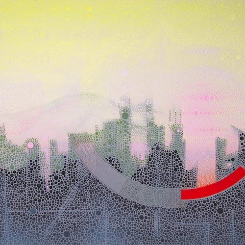 Imagining Polynesia 2 by Ewa Tarsia, 2020 Acrylic on Canvas - (30x40 in)