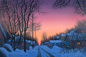 Wilf Perreault: Back Lanes at Twilight