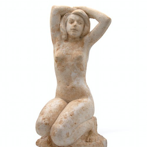 Plaster Nude by Leo Mol, 1970 Plaster - (16x8x10 in)