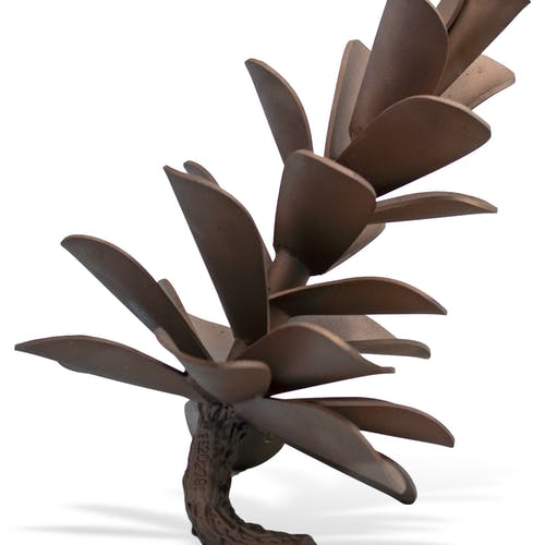 Pine Cone #20-279 by Floyd Elzinga, 2020 Stainless Steel, Rose gold Colour - (12x10 in)