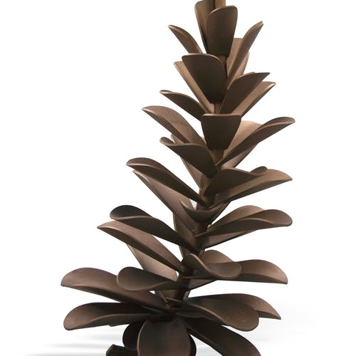 Pine Cone #20-268 by Floyd Elzinga, 2020 Stainless Steel, Gold Colour - (24x14 in)
