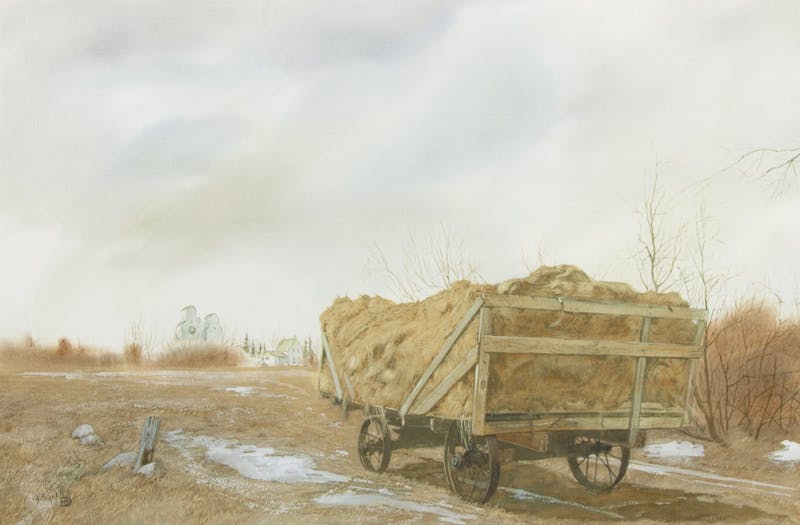 Hay Bales with Grain Growers