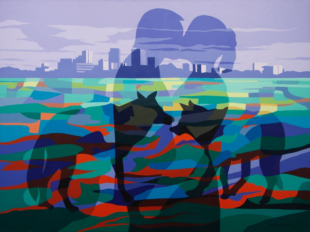 Lovers by Peter McConville, 2004 Acrylic on Canvas - (36x48 in)
