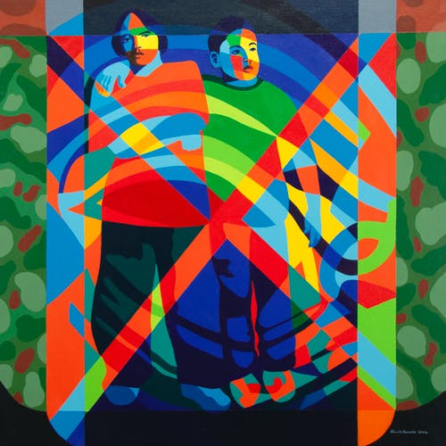 Taggers by Peter McConville, 2002 Acrylic on Canvas - (36x36 in)
