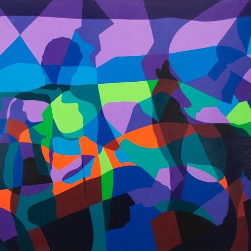 Untitled by Peter McConville, 2003 Acrylic on Canvas - (46x60 in)