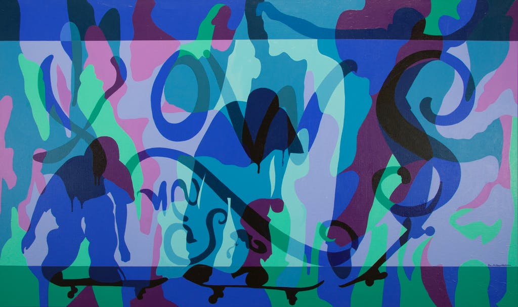 Untitled by Peter McConville, 2002 Acrylic on Canvas - (36x60 in)