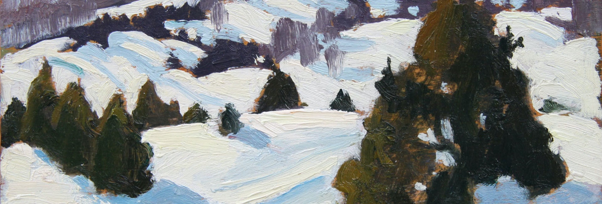 Snow Clouds, Morin Heights by Edwin Holgate, 1947 Oil on Panel - (8.5x10.5 in)