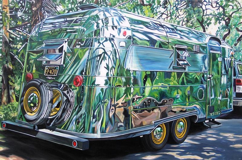 Silver Streak Under Oak Trees Image 1