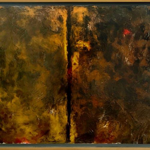 Plum Line by Jean McEwen, 1960 Oil on Canvas - (39x50 in)