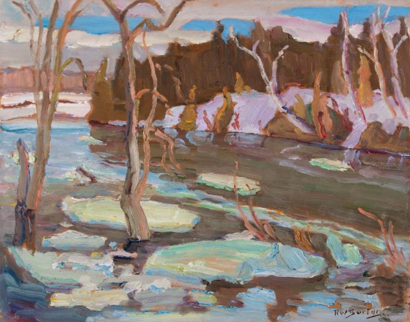 Ice on the Jock River near Hearts Desire, ON Image 1