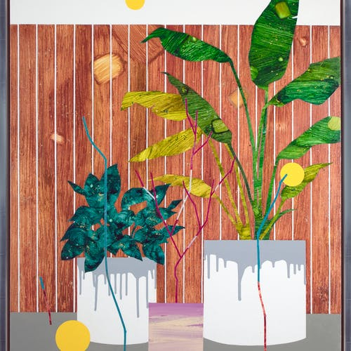 Garden Harmonies by Mira Song, 2020 Oil and Acrylic on Canvas - (40x30 in)