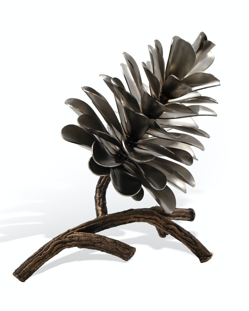 Pine Cone on Branch #20-578