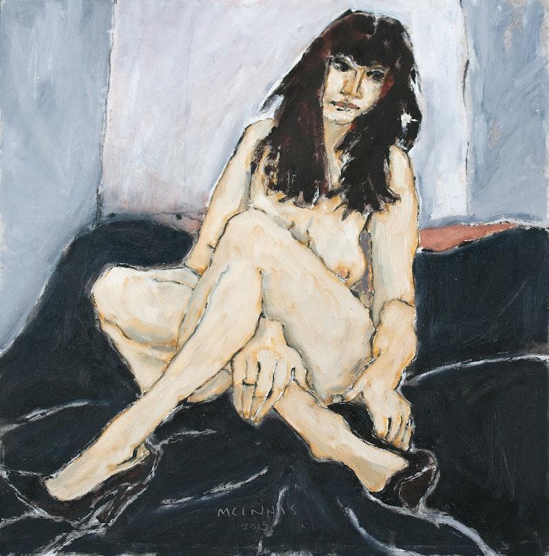 Model in Black Shoes Image 1