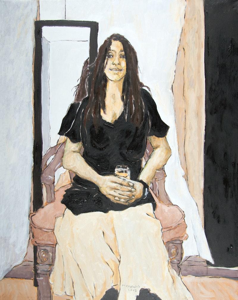 Model with Wine Glass (Rachel)