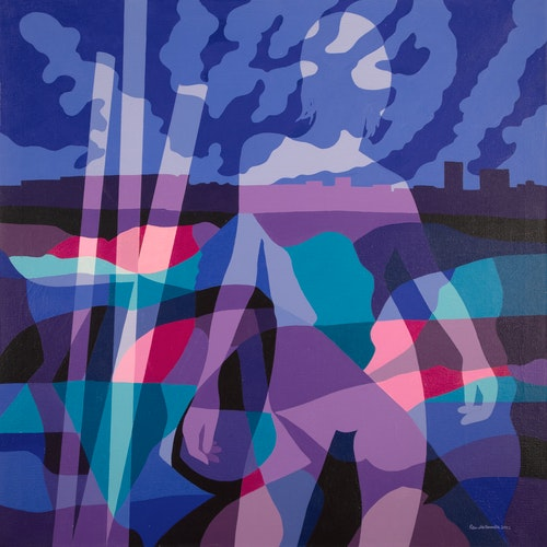 Outskirts by Peter McConville, 2002 Acrylic on Canvas - (36x36 in)