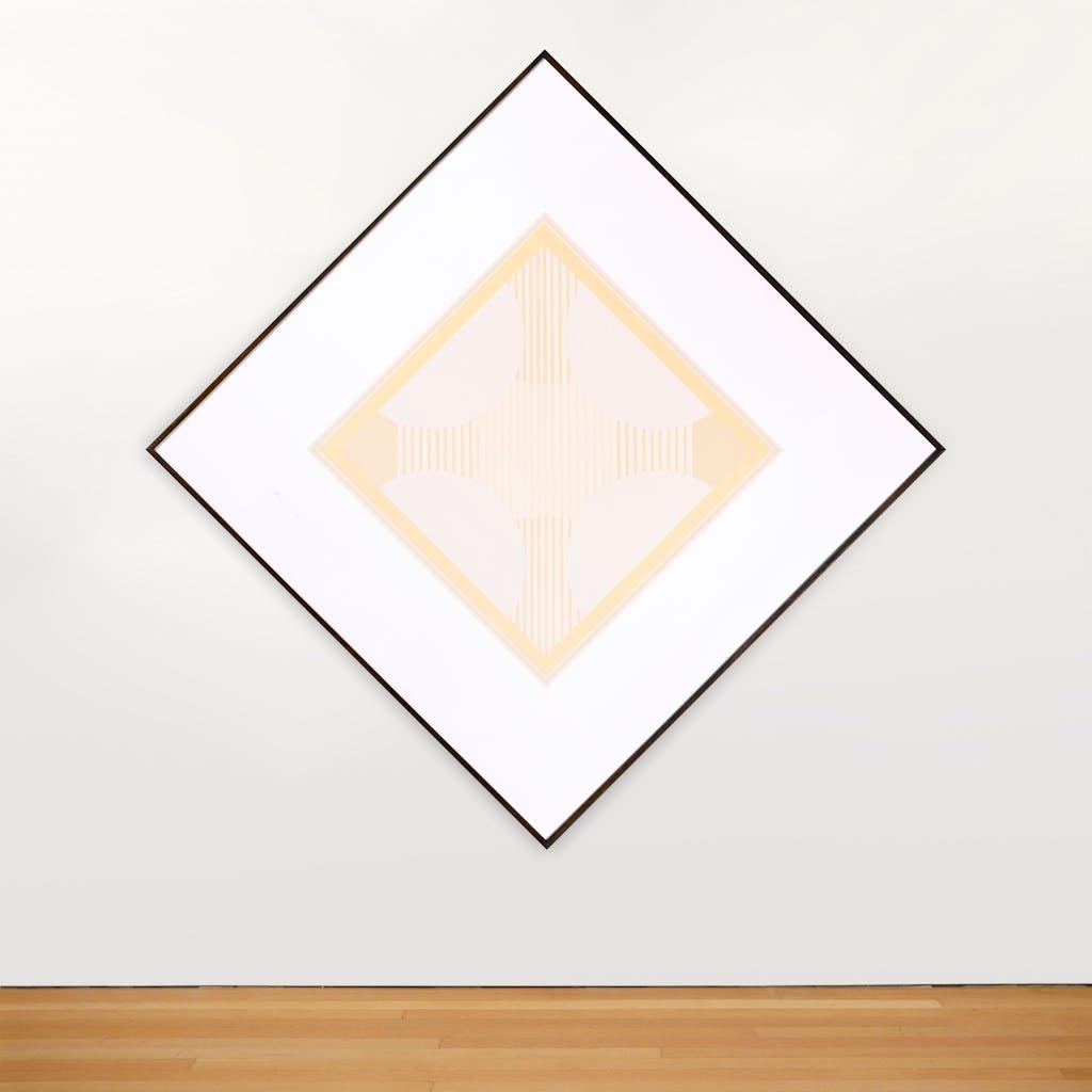 Snow Bird by Tony Tascona, 1979 acrylic - (49x49 in)