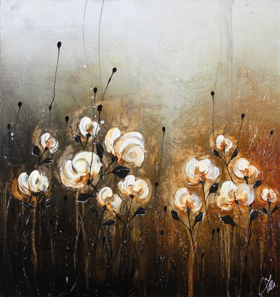 When Shadows Shine by Laura Harris, 2017 Mixed Media on Canvas - (30x30 in)