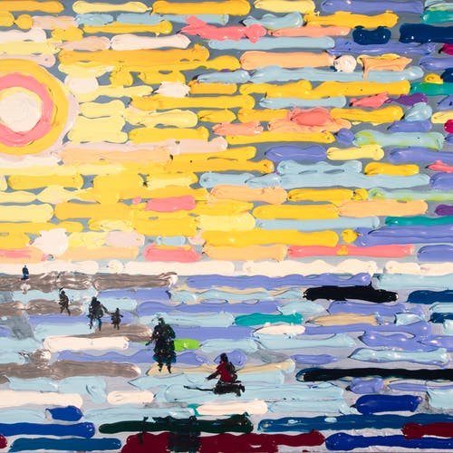 Dispossessed by Bill Brownridge, 2021 Acrylic on Canvas - (15x30 in)