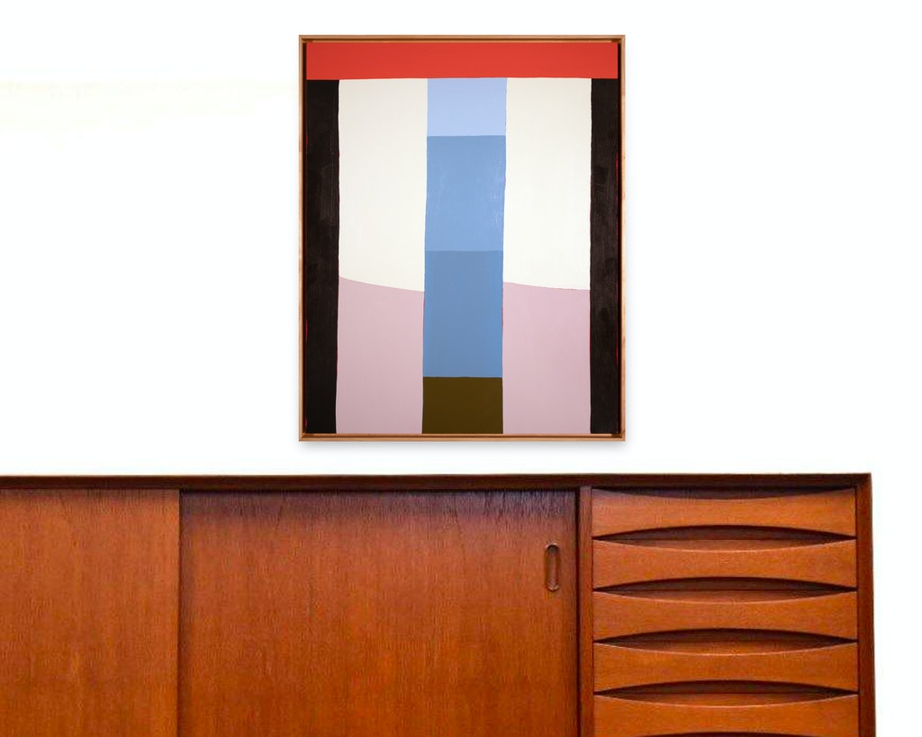 Traditional Joinery by Scott Sueme, 2021 Acrylic on Panel - (30x24 in)