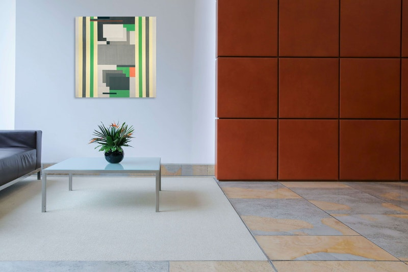 Untitled (Composition in Grey and Green) Image 2
