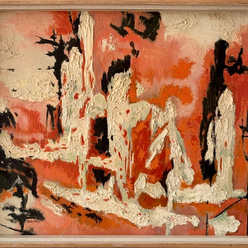 The Dance of the Spirits by Ina Meares, circa 1960 Oil on Board - (20x24 in)