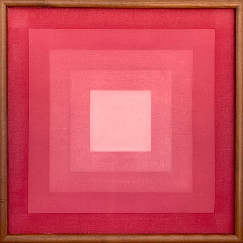 Composition 7487 by Annemarie Entz, 1974 Oil on Canvas - (22x22 in)