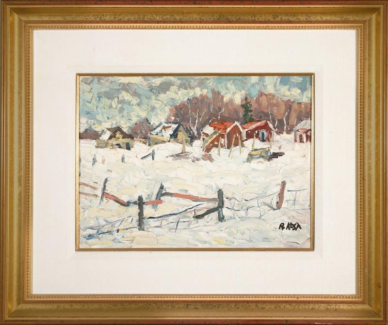 Winter Farm Scene Image 1