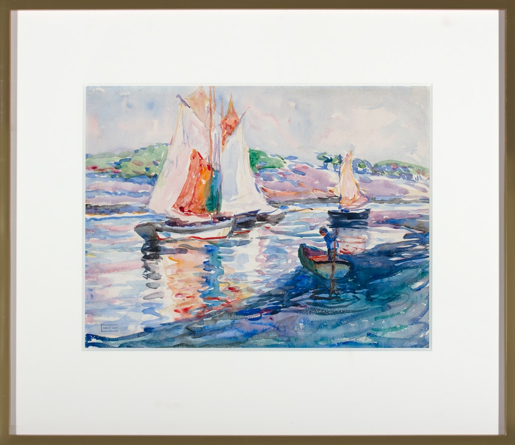 Sailing Brittney by Emily Carr, 1911 Watercolour on Paper - (11x15 in)