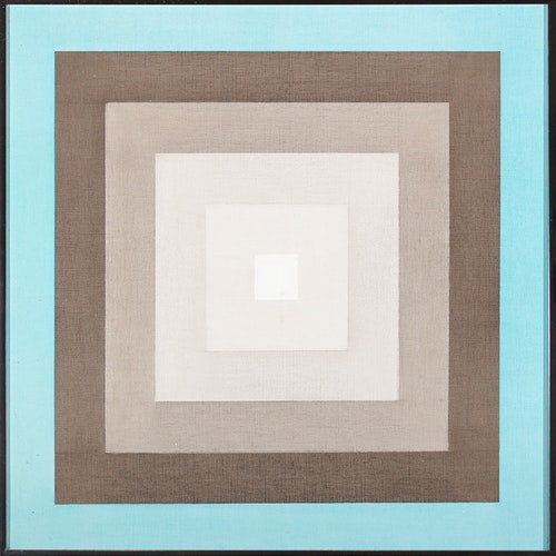 Composition 74114 by Annemarie Entz, 1974 Oil on Canvas - (22x22 in)