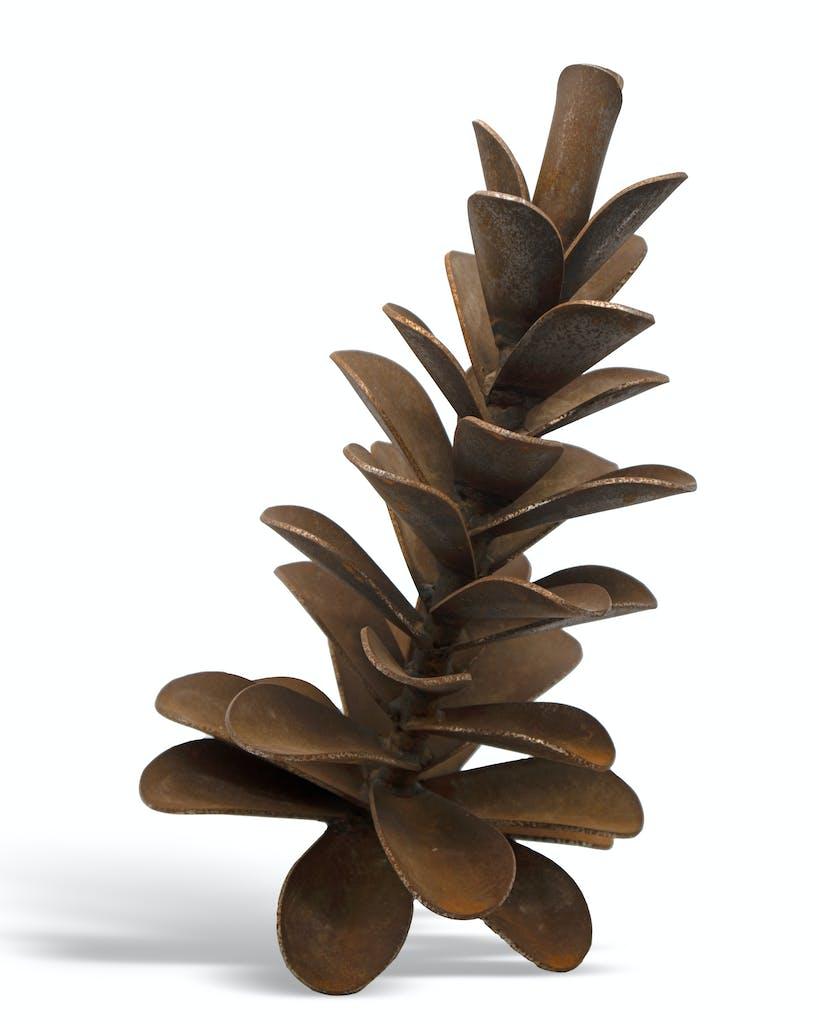 Pine Cone #20-496 by Floyd Elzinga, 2020 Weathering Steel - (20x12x12 in)