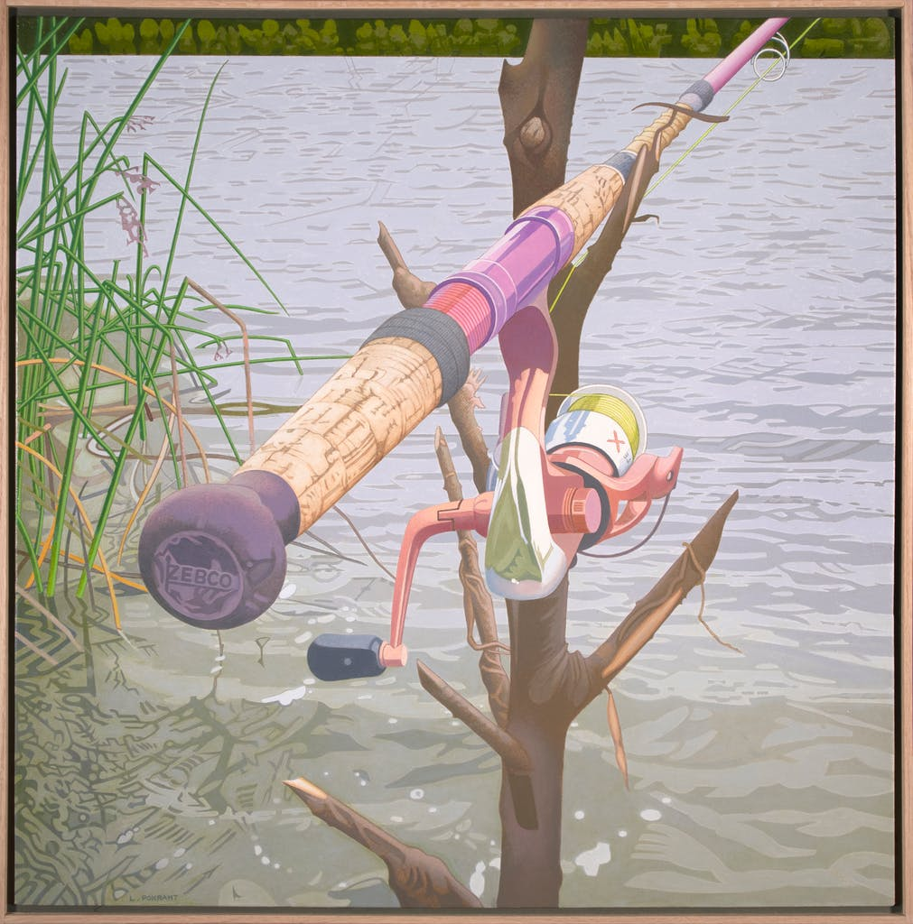 Still Fishing - End Of Main by Luther Pokrant, 2021 Oil on Canvas - (30x30 in)