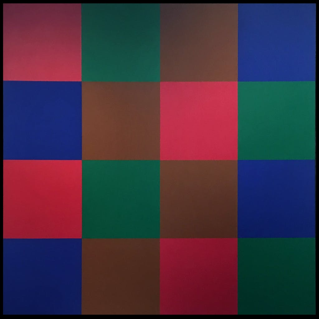 Untitled by Guido Molinari, 1970 Acrylic on Canvas - (68x68 in)