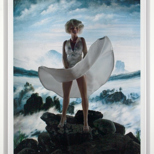 Wanderer Above a Sea of Ice (Marilyn) 8/20 by Diana Thorneycroft, 2012 Digital Photograph on Paper - (30x24 in)