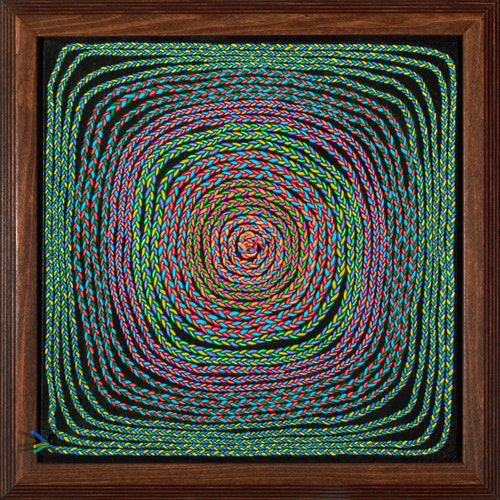 Circle into Square by Luther Pokrant, 2021 Mixed Media - (19x19 in)