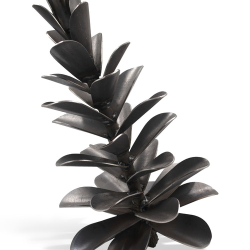 #21-173 Pine Cone by Floyd Elzinga, 2021 Weatherinig Steel - (20x12 in)