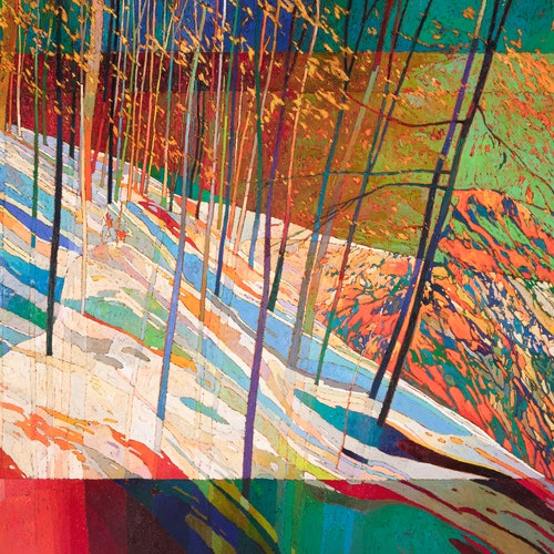 #2188 by Bob Kebic, 2020 Oil on Canvas - (48x60 in)