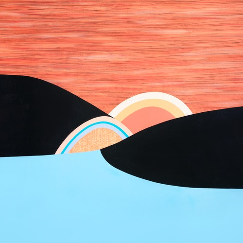 Sunset by Luke Ramsey, 2017 Acrylic on Canvas - (36x60 in)