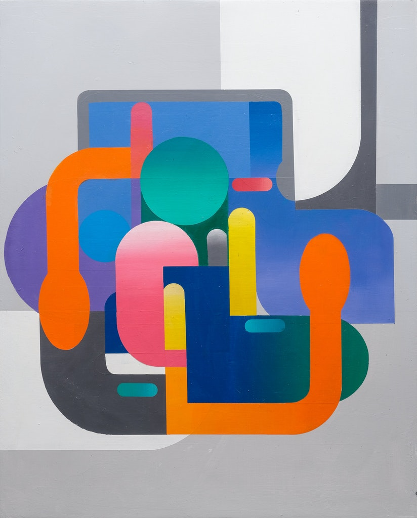 Dialect 5 by Sarah Gee Miller, 2021 Acrylic on Panel - (30x24 in)